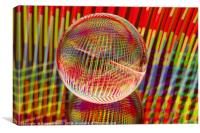 Criss Cross lights in the crystal ball, Canvas Print