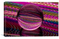 Vivid in the glass ball, Canvas Print
