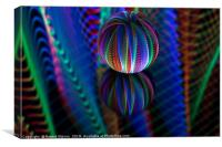 Amazing colours in the glass ball, Canvas Print