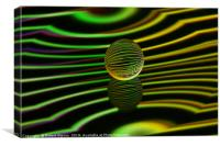 Abstract art Floating glass ball abstract., Canvas Print