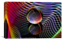 Tartan glass ball, Canvas Print