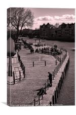 Kings Staith Landing. York., Canvas Print