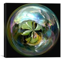 Spherical Waterworld, Canvas Print