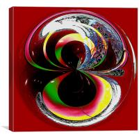 Spherical Colour to infinity, Canvas Print