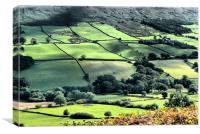 Landscape across the Yorkshire Dale, Canvas Print