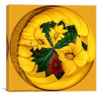 Spherical Paperweight Flowers, Canvas Print