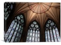 York Minster Chapter House, Canvas Print