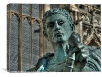 King Constantine the Great at York Minster, Canvas Print