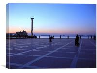 Twilight In Izmir., Canvas Print