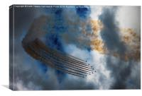 Red Arrows Display , Canvas Print