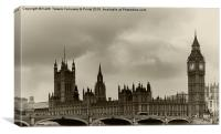 London Old Look , Canvas Print