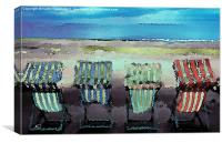 Deckchair, Canvas Print