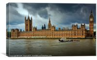 London - Houses of Parliament, Canvas Print