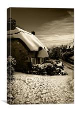 Winter Cottage IW Canvases & Prints