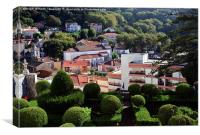Portugal, Sintra National Palace Gardens., Canvas Print