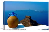 Terracotta Jar Santorini, Canvases & Prints
