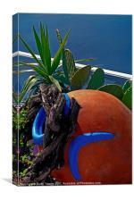 Terracotta Pot Garden, Santorini, Canvases & Print, Canvas Print