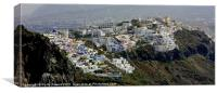 View over Fira, Santorini, Canvases & Prints, Canvas Print