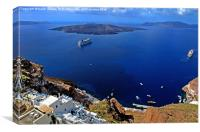 Fira Harbour, Santorini, Greece Canvases & Prints