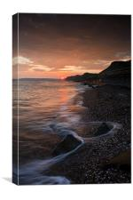 Sunset At the Bay,, Canvas Print