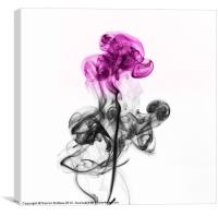 Abstract smoke flower., Canvas Print