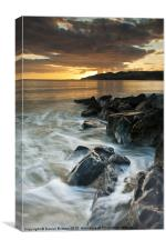 Charmouth sunset., Canvas Print