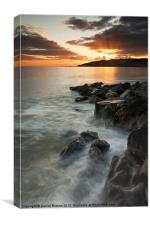 Charmouth sunset II, Canvas Print