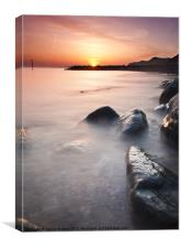 West Bay sunset., Canvas Print