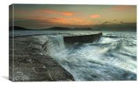 Lyme Regis Sunrise., Canvas Print