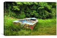 Abandoned Boat, Canvas Print