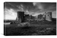 Carew Castle Mono, Canvas Print