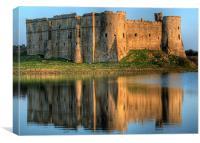 Carew Castle Reflection, Canvas Print