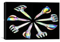 Electric Cutlery, Canvas Print