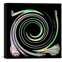 In a whirl, Canvas Print