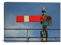 Railway Signal, Canvas Print