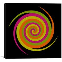 Six Squared in a Twirl, Canvas Print
