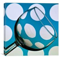 Polka Dot Glass, Canvas Print