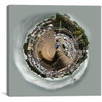 Planet Saundersfoot Harbour, Canvas Print