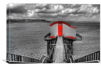 Old Tenby Lifeboat Station Colour Pop, Canvas Print