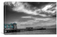 Penarth Pier Colour Pop, Canvas Print