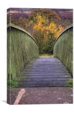 The Bridge to Autumn, Canvas Print
