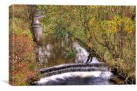 Parc Cwm Darran Waterfall, Canvas Print