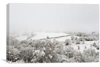 Snow over the Rhymney Valley, Canvas Print