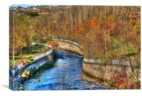River Rhymney, Canvas Print