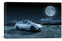 Evo 7 At Night, Canvas Print