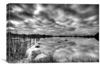 Penyfan Pond Monochrome, Canvas Print