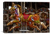 Merry go round horses, Canvas Print