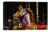 Merry go round horses 4, Canvas Print