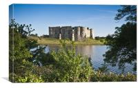 Carew Castle across the pond, Canvas Print