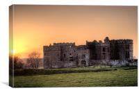 Sunset over Carew Castle, Canvas Print